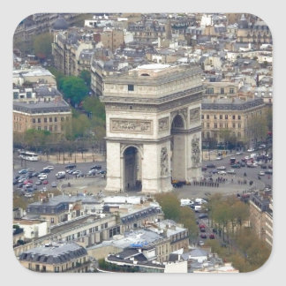 Arco del Triunfo París Francia Pegatina Cuadrada