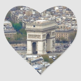 Arco del Triunfo París Francia Pegatina En Forma De Corazón