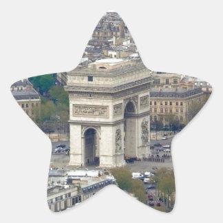 Arco del Triunfo París Francia Pegatina En Forma De Estrella