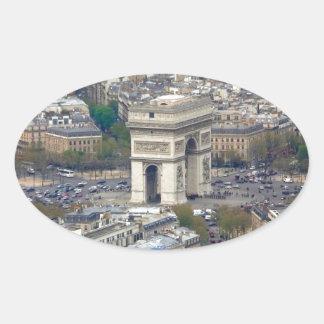 Arco del Triunfo París Francia Pegatina Ovalada