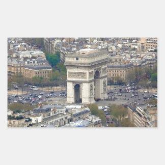 Arco del Triunfo París Francia Pegatina Rectangular