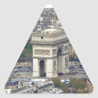 Arco del Triunfo París Francia Pegatina Triangular