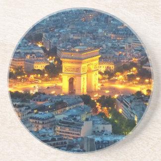 Arco del Triunfo, París, Francia Posavasos De Arenisca