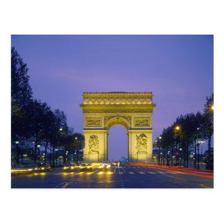 Arco del Triunfo París Francia Postal