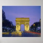 Arco del Triunfo, París, Francia, Póster