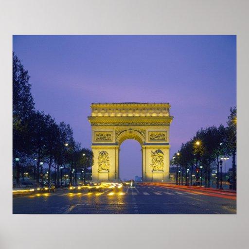 Arco del Triunfo, París, Francia, Poster