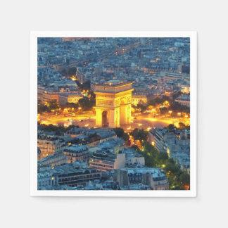 Arco del Triunfo, París, Francia Servilletas Desechables