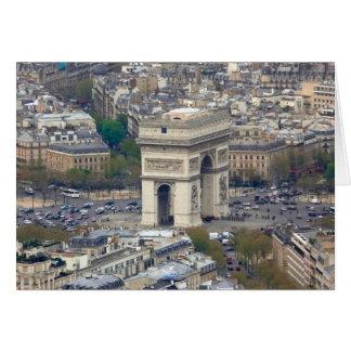 Arco del Triunfo París Francia Tarjeta De Felicitación