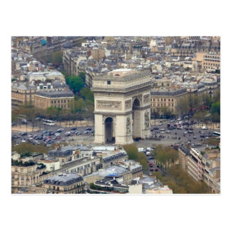 Arco del Triunfo París Francia Tarjeta Postal