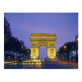 Arco del Triunfo, París, Francia, Tarjeta Postal