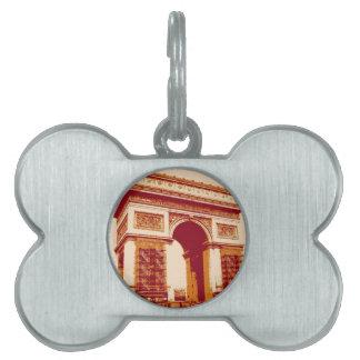 Arco del Triunfo París Placa Mascota