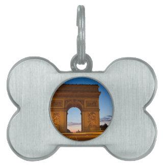 Arco del Triunfo Placa De Mascota