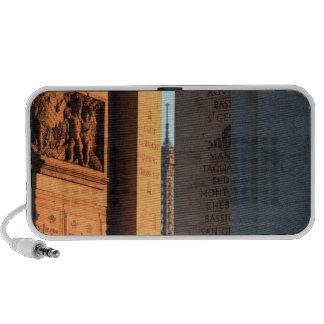 ARCO DEL TRIUNFO y torre Eiffel 2 iPod Altavoces