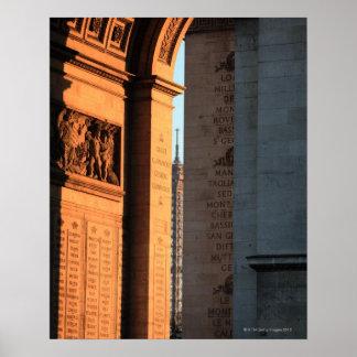 ARCO DEL TRIUNFO y torre Eiffel 2 Poster