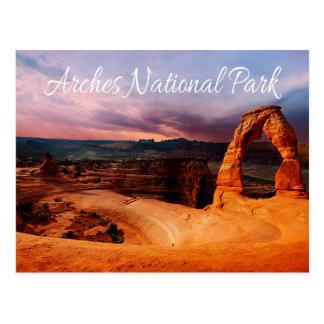 Arco delicado - arcos parque nacional, Utah - los Tarjeta Postal