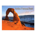 Arco delicado, arcos parque nacional, Utah Postales