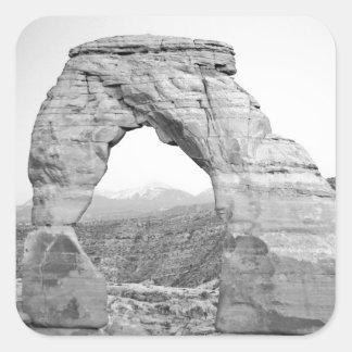 Arco delicado Moab Pegatina Cuadrada