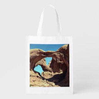 Arco doble bolsas reutilizables
