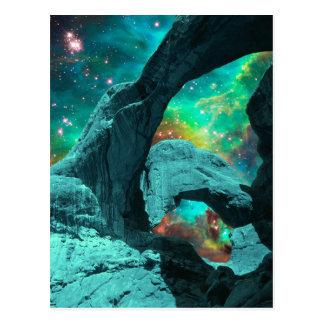 Arco doble en postal del espacio