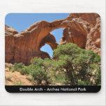 Arco doble - parque nacional de los arcos alfombrilla de raton
