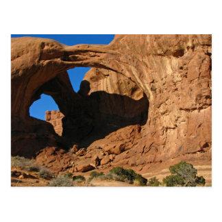 Arco doble, parque nacional de los arcos tarjetas postales