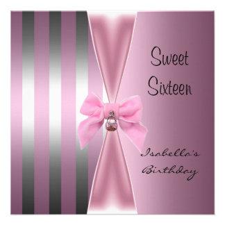 Arco dulce 2 de la raya del rosa del satén del cum anuncio personalizado