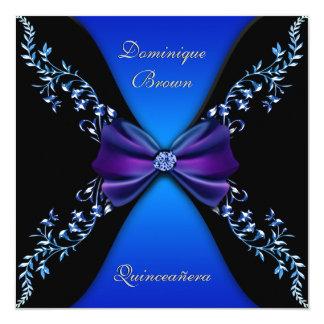 """Arco elegante del diamante del azul real invitación 5.25"""" x 5.25"""""""