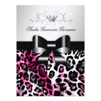 Arco elegante del leopardo de 311 rosas fuertes me invitaciones personales