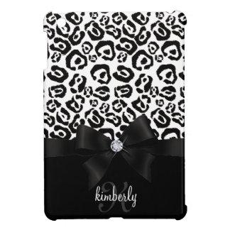 Arco elegante del leopardo y femenino personalizad iPad mini protector