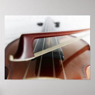 Arco en el violín póster