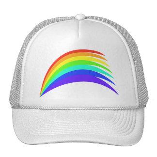 Arco estilizado del arco iris gorras