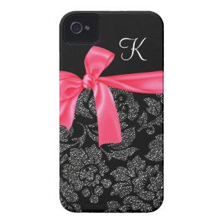 Arco femenino de las rosas fuertes del falso damas iPhone 4 Case-Mate protectores