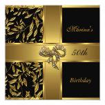 Arco floral 2 del 50.o oro negro elegante del comunicado personal