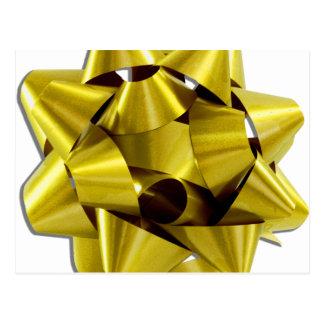 Arco grande del navidad del oro postal