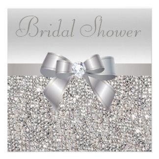 Arco impreso plata de las lentejuelas y ducha nupc anuncio personalizado