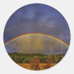 Arco iris #0954 etiqueta redonda