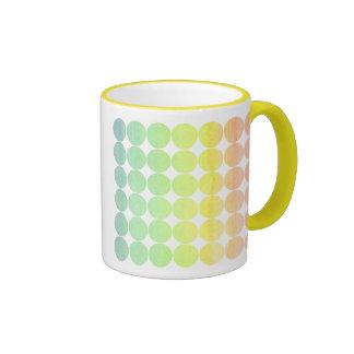 Arco iris 1 del lunar taza de dos colores