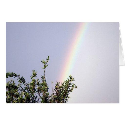 Arco iris 204 tarjeta de felicitación