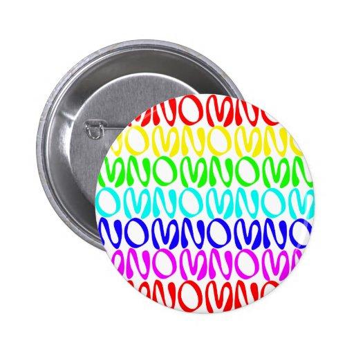 Arco iris 2 de OMNOMNOMNOM 4 Pin Redondo 5 Cm