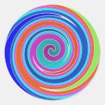 Arco iris 2 pegatinas redondas