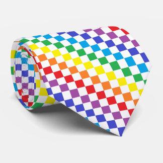 Arco iris a cuadros corbata