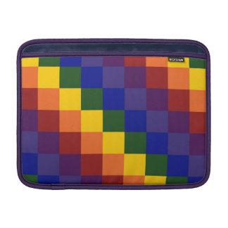 Arco iris a cuadros funda macbook air