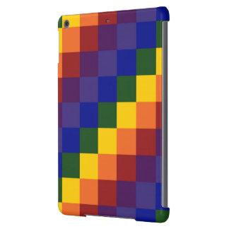 Arco iris a cuadros funda para iPad air