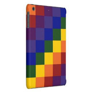 Arco iris a cuadros fundas de iPad mini retina