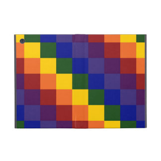 Arco iris a cuadros iPad mini funda