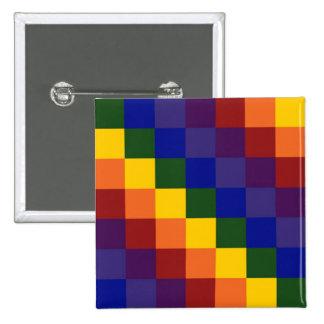 Arco iris a cuadros pins