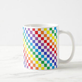Arco iris a cuadros taza