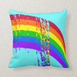 Arco iris abstracto almohada