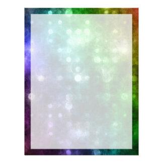 Arco iris abstracto Bokeh Membrete Personalizado