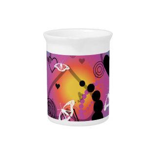 Arco iris abstracto de la esfera de la mariposa jarra para bebida